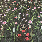 1 Yard Vintage Floral Embroidery Mesh Wedding Dress Lace Fabric 91150cm