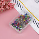 100 Pcslot Sewing Straight Dressmaking Pins Pearl Head Accessories Diy Tools Qy