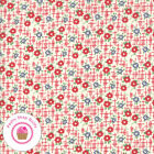 Moda Bubble Pop 21763 11 Red Floral American Jane Quilt Fabric 1930s Repro