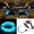Flexible Neon Led Light Glow El Strip Tube Wire Rope Car Tape Cable De Wxy