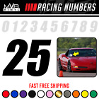 Racing Numbers Vinyl Decal Stickers Windshield Track Drag Strip Autocross Nhra