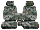 Car Seat Covers Digital Camo Green Fits Toyota Tacoma 01-2004 Fr Bench 60-402hr