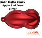 Satin Flat Candy Apple Red Over Silver Basecoat Tri-coat Quart Auto Paint Kit