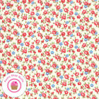 Moda Good Times 21773 11 Pink Red Floral American Jane Quilt Fabric 1930s Repro