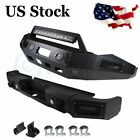 Steel Front Rear Bumper Guard W Led Lights D-rings For 13-18 Dodge Ram 1500