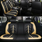 Car 5 Seat Covers Full Set Waterproof Leather Universal For Auto Sedan Suv Truck