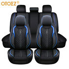 Universal Deluxe Pu Leather 5-seats Car Seat Cover Front Rear Cushion Full Set
