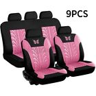9pcs Front Rear Car Seat Covers Full Set 5 Seat Cushion 3d Butterfly
