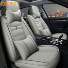 Luxury Leather Car Seat Covers Front Rear Full Set Cushion Protector Universal