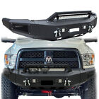 Vijay For 10-18 Dodge Ram 25003500 Front Rear Bumper With Led Lightwinch Plate