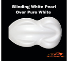 Blinding White Pearl Over Pure White Basecoat Gallon Car Auto Paint Kit