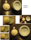 Your Choice - Fg Flexible Silicone Push Molds Of Round Oval Sun Moon Doll Face