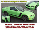 K661 2013-14 Mustang - The Kicker - Hood And Side Stripe Kit - No Numeral