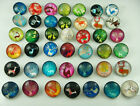 10pc Mix Alloy Lampwork Chunks Snap Button For Noosa Charm Bracelets Accessories