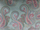 Spa Mint Pink Paisley Patty Reed 100 Cotton Fabric Bty Half Yard T310