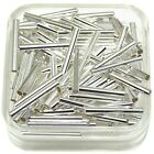 Tube Metal Spacer Bead 13x1.5mm 1mm Hole Gold Or Silver Plated 100pc Findings