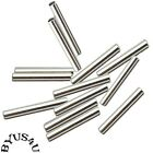 Tube Metal Spacer Bead 17x2mm 1.5mm Hole Gold Or Silver Plated 100pc Findings