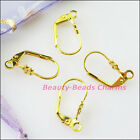 12pcs Flower Star French Earring Hook Diy 9x17mm Gold Dull Silver Bronze Plated