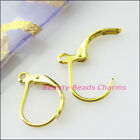 20pcs Semicircle Lever Back Splitring Earring Hooks 11x16mm Gold Silver Plated