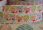 Mix Style Peppa Pig George Cartoons Grosgrain Ribbon Cake Party Craft Gifts