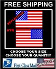 2 Reflective American Flag Usa Mirrored 3m Vinyl Decals For Boat Truck Car