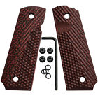 1911 G10 Grips Full Size Government Ambi Cut Ops Texture Grey Red Coyote Od