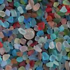 Sea Beach Glass Beads Mixed Colors Bulk Red Jewelry Pendant Decor 8-12mm 10-16mm