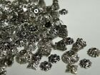 100 Pc Mixed Tibetan Bead Caps Silver Antiqued Copper Or Antiqued Brass 5mm-10mm