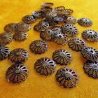 Antiqued Brass Bronze Filigree Wrap Bead Caps Vintage Bohemian Style 8mm - 42mm