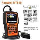 Full System Car Diagnostic Abs Srs Crash Data Code Erease Scanner Foxwell Nt510