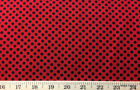 Red Black Polka Dot On Red And Black Polka Dot 100 Cotton Fabric W55