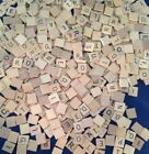 Vintage Old Style Usa Scrabble Letter Tiles A-z Wooden Great For Crafts