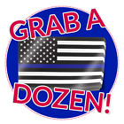 Thin Blue Line American Flag Decals 12 Stickers Us Usa America Police Support