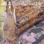 Designer 100 Pure Silk Chiffon Fabric With Floral Print 53 Width S123