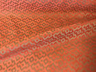 Speckled Chenille Velvet Stripe Upholstery Fabric Rusty Red Beige Blue Taupe