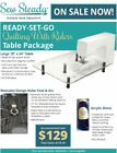 Brother Sewing Machine Sew Steady Ready-set-go Extension Table Package