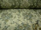 Woven Luxury Vtg Victorian Floral Upholstery Fabric Ivory Pale Gold Beige Yellow