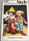 Vintage Clown Patterns Costumes Dolls And Pillows Rag Dolls
