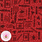 Moda Overnight Delivery 5703 11 Red Writing Sweetwater Quilt Fabric Christmas