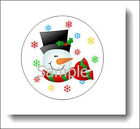 Christmas Snowman Snowflakes Sticker Label Seals - Many Sizes To Choose From