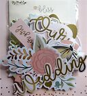 My Minds Eye Bliss And Joyful Paper Pad And Embellishments-