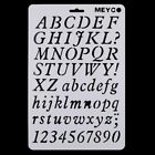Alphabet Number Airbrush Wall Painting Stencils Templates Scrapbooking Craft Diy