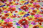 Pink Red Daisy Swiss Dot 100 Cotton Lawn Sheer Apparel Embroidered Fabric 43w