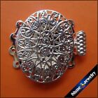 2510 Pcs 4 Strings Filigree Silver Plating Flower Box Clasps 20mm Findings