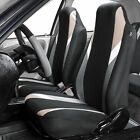 Highback Front Bucket Seat Covers Pair For Auto Car Suv Van Coupe 10 Colors