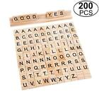100-200pcs Wooden Alphabet Scrabble Tiles Black Letters Numbers Handcrafts Wood
