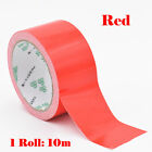 10m Red 1-10cm Waterproof Sticky Adhesive Cloth Duct Tape Pipe Craft Repair Diy