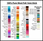 Pure Wool Felt Eco Friendly Waldorf Steiner 1 Square Choose Your Own Colour