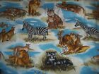 Jungle Safari Zoo Africa Parrots Bty Cotton Quilt Fabric U-pick Read For Info