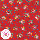 Moda Sweet Harmony 21752 13 Red Floral American Jane Quilt Fabric Reproduction